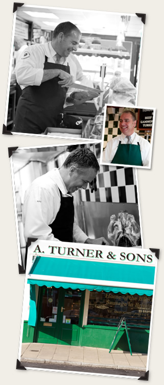 A Turner and Sons shop in Aldershot and Kevin and Paul Turner at work