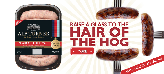 Raise a glass to the Hair of the Hog - Alf Turner's Hair of the Hog sausages